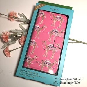 KATE SPADE CAMEL PARTY FOLIO IPHONE 7+/8+ CASE